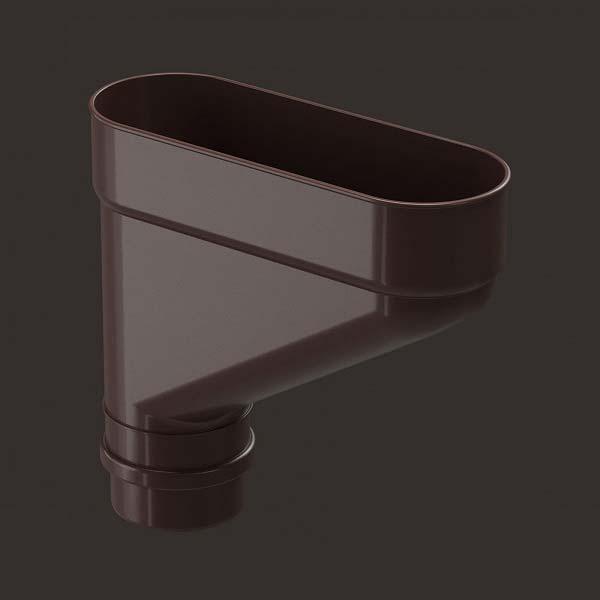 Коллектор для водостока LUX, шоколад